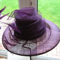 Fabulous Purple Wedding Hat SN574